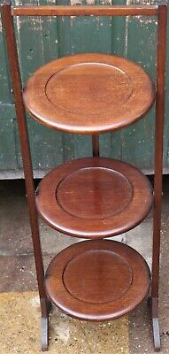£8.50 • Buy Very Useful Old Wooden Folding 3 Tier Wooden Cake Stand