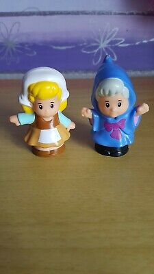 £4 • Buy Fisher Price Little People Disney Cinderella Maid And Godmother Figures