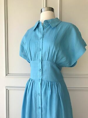 AU89.95 • Buy | COUNTRY ROAD | Button Front Collared Dress Opal Blue | NEW | $199 | SIZE: 8,12