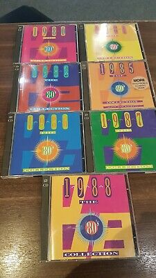 £0.50 • Buy Time Life.The 80's Collection - 1980/1981/1982/1985/1986/1987/1988-7 CDs