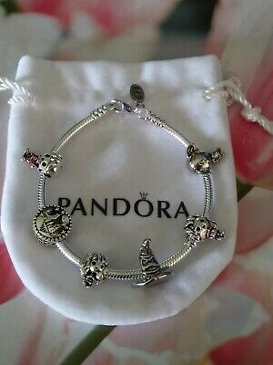 AU88.94 • Buy Authentic Pandora Sterling Silver Bracelet With Harry Potter European Charms