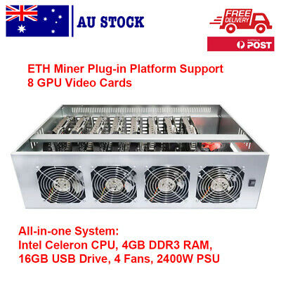 AU1189 • Buy 8 GPU Mining Rig Server Chassis Case 65 Mm All In One System Crypto Mining ETH