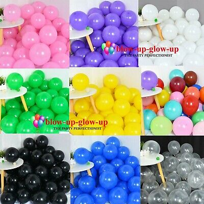 £2.79 • Buy 5  10  12  PLAIN Balloons Birthday LATEX Ballons Baby Shower Party Decoration
