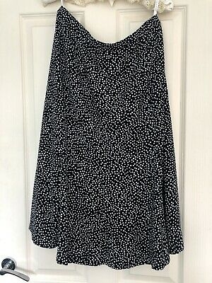 £1.70 • Buy Wonens Cotswold Collection Black And White Spot Lined Skirt Size 18