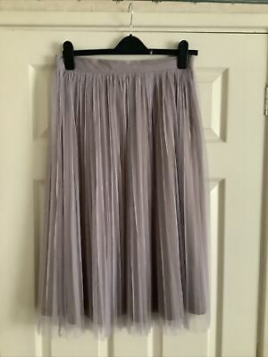 £2.99 • Buy Ladies Boohoo Taupe Net Skirt - Size 12 - Brand New Without Tag