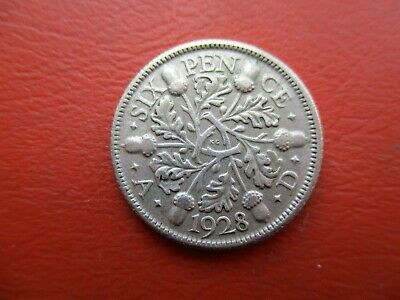 £1.49 • Buy 1928 Sixpence - Good High Grade Coin - George V - 0.5 Silver (ref 50)