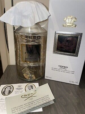 £23 • Buy Creed Aventus 500ml Empty Bottle, Cards, Leather, Thread & Box. Batch 21P01.