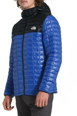 £123.24 • Buy The North Face Mens ThermoBall Quilted Hooded Parka Packable Jacket Blue Size XL