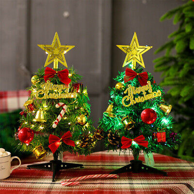 £4.99 • Buy Mini Christmas Tree With LED Stirng Lights Table Desk Decor