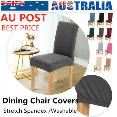 AU4.99 • Buy 1/4/8Pcs Stretch Dining Chair Covers Seat Slipcover Wedding Party Decor Washable