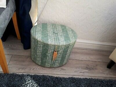 £6.95 • Buy Upholstered Sewing Box, Foot Stool With Padded Lid