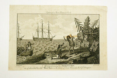 £12 • Buy 18th Century Print Affecting Interview Of Two Moskito Men Gravalot Pollard Moore