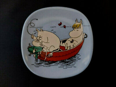£48 • Buy ARABIA FINLAND Moomin Wall Plate  ENGINE PROBLEMS  - Moomintrol And Snorkmaiden