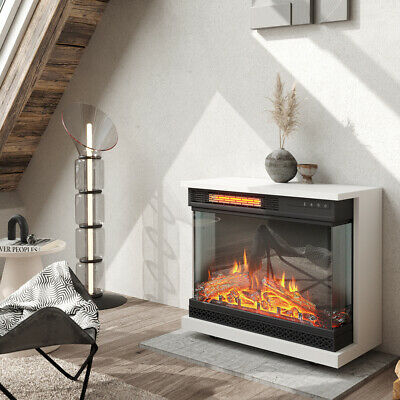 £199.95 • Buy Electric Fireplace Freestanding / Insert LED Flame Fire Heater Logs Effect Stove