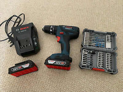 £53 • Buy Bosch GSB 18-2-LI Professional Drill With 2 X 18V 2.0Ah Battery + Charger + Bits
