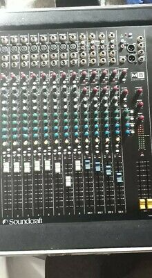 £180 • Buy Soundcraft Spirit M8 With Wheelable Gator Flight Case And Rackmount Arms
