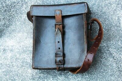 £99 • Buy WW2 German Wehrmacht Nice Black Leather Bag In Vgc 1939 - Used By Signal Troops?