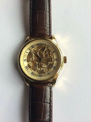£1.20 • Buy Rotary Skeleton Watch Automatic Gs02519/09 Pre Owned