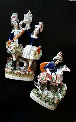 £15 • Buy A Pair Of Antique Staffordshire Flatback Figurines.
