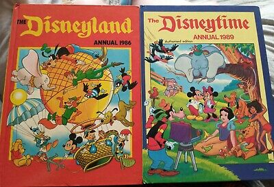 £10 • Buy Disneyland Annual 1986 And Disneytime Annual 1989 - Excellent Condition
