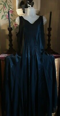 £79.99 • Buy Chesca Silk Satin Beaded Fit & Flare  Long Maxi Occasion Size 20 Beautiful
