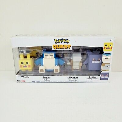 $14.50 • Buy Wicked Cool HK Limited Pokemon Quest Figure 4 Pack Pikachu Snorlax Gengar