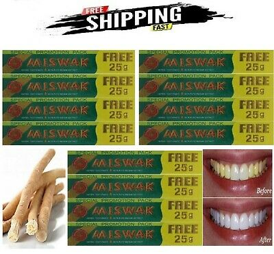 £31.99 • Buy 12 X Miswak Herbal Toothpaste With Pure Miswak Extract 12 X 25g