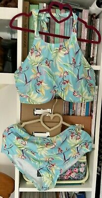 £10 • Buy FIGLEAVES  Hlter Neck Bikini Top 36G & Bottoms Size 16 New With Tags