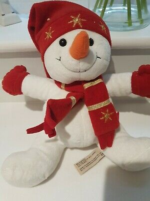 £12 • Buy Keel Toys Simply Soft Collection Festive Snowman Plush Soft Toy 30cm Vgc
