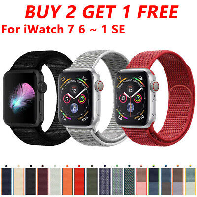 AU3.71 • Buy Nylon Sport Loop For Apple Watch Series 6 5 4 3 2 SE IWatch Band Strap 40mm 44mm
