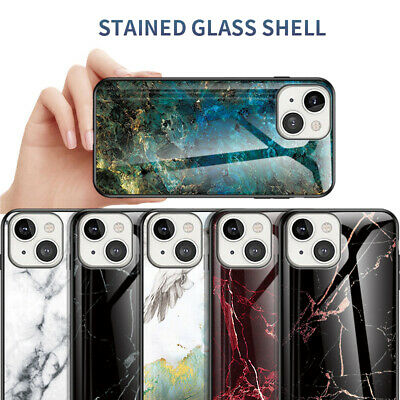 AU6.33 • Buy For IPhone 13 Pro Max 12 11 XS 8 7 Shockproof Marble Tempered Glass Case Cover