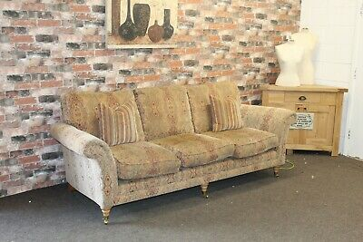 £899 • Buy Parker Knoll Burghley, 3 Seater Sofa In Baslow Medallion Gold Fabric