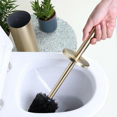 £24.05 • Buy Durable Gold Toilet Brush With Holder Long Handle Deep-Cleaning For Bathroom