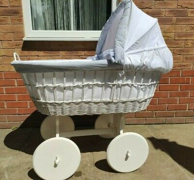 £24 • Buy  Baby Veery Large Wicker Crib / Moses Basket With Stand, Bed