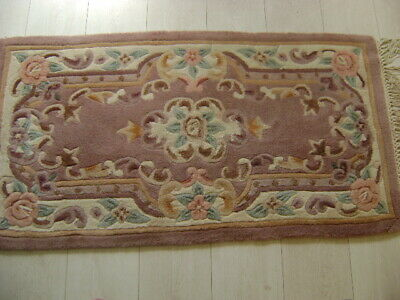 £20 • Buy Chinese Brown Floral Rug Size 4ft 2ft 3ins 100% Wool