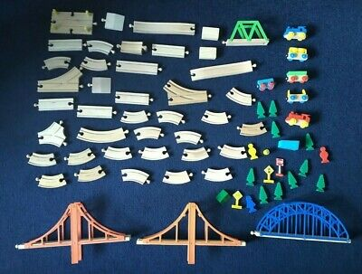 £0.01 • Buy Wooden Train Set - 68 Pieces - Compatible With Brio BigJigs - Boxed - Track