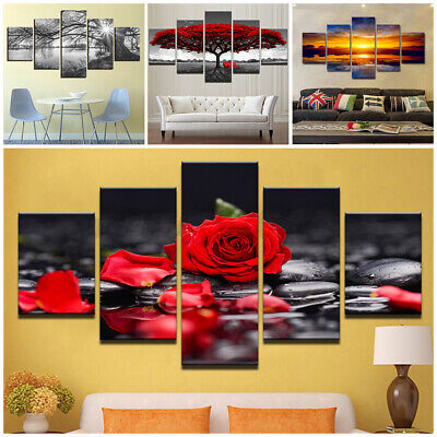 £9.18 • Buy 5 Panels Unframed Modern Canva Picture Wall Art Picture Print Room Hanging Decor