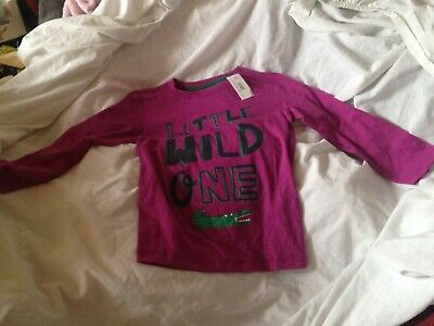 £1 • Buy Blue Zoo  Little Wild One  Long Sleeved T-shirt / Top. Age 4/5. BNWT