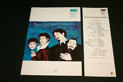 £1.80 • Buy Much Ado About Nothing - 1996 RSC Theatre Programme, Cast List & Ticket