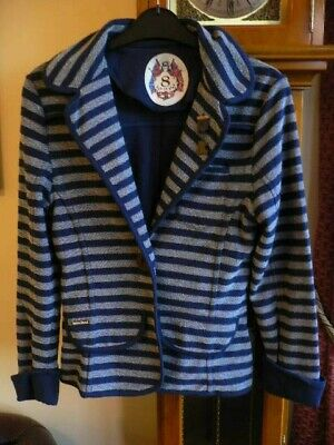 £7 • Buy Womens Red Or Dead Fitted Blazer Jacket Size 8 Navy And White Nautical Style