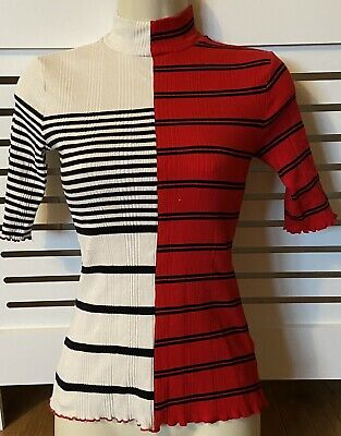 £1.99 • Buy Desigual 2 Sided Top - Short Sleeve - Black, Red, White XS Would Fit Size 8-10