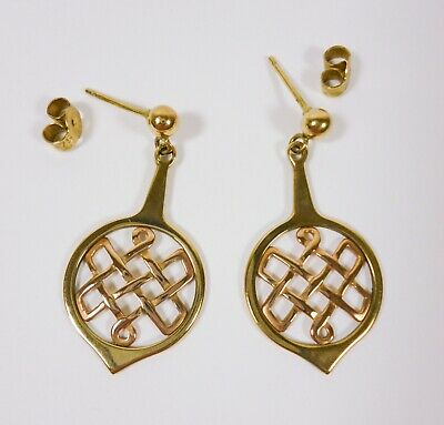£235 • Buy Clogau Rose & Yellow Gold Lady Guinevere Celtic Drop Earrings