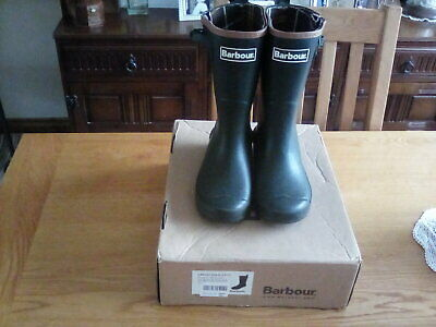 £5 • Buy Kids Barbour Wellington Boots Wellies UK Infant Size 13 Euro 32 Boxed