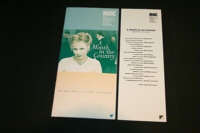 £1.80 • Buy RSC Theatre Programme, Cast List & Ticket - A Month In The Country - 1999