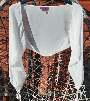 £4.99 • Buy Ladies DEBUT IVORY LONG SLEEVED COVER UP SIZE M. Worn Twice