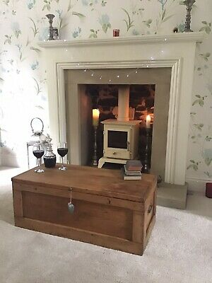 £75 • Buy Old CHEST, ANTIQUE Wooden Blanket TRUNK, Coffee TABLE, Storage BOX, Vintage