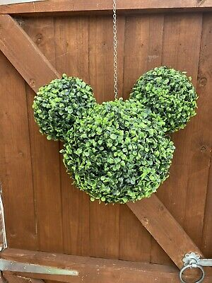 £40 • Buy Mickey Mouse Icon Inspired Topiary Ball Hanging Decoration For Garden