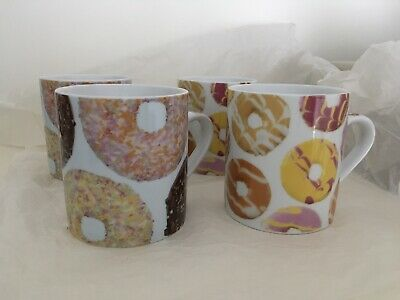 £7.99 • Buy Next Mugs Set Of Four Doughnuts And Party Rings