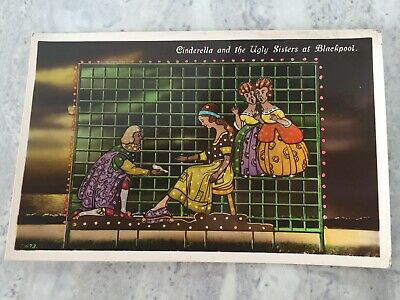£0.99 • Buy Postcard Blackpool Illuminations Cinderella And The Ugly Sisters 1930's