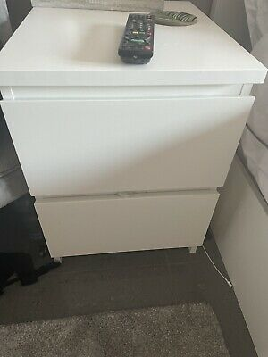 £15 • Buy IKEA White Malm Chest Of 2 Drawers Bedside Table